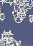 Pagoda SketchTwenty3 Wallpaper Chinois Lagoon Blue MH00417 By Tim Wilman For Blendworth